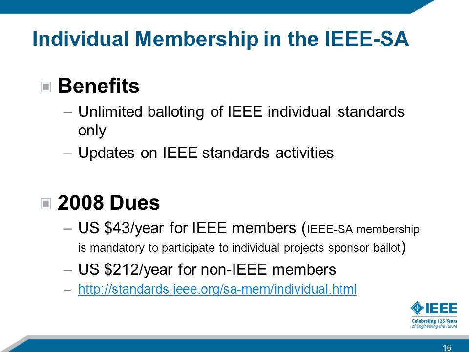 Individual Membership in the IEEE-SA