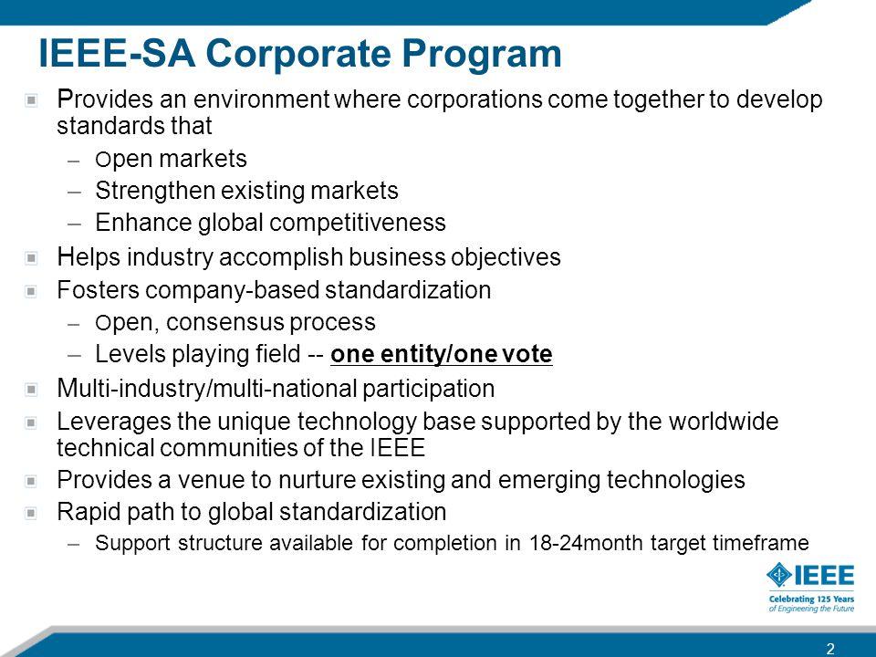IEEE-SA Corporate Program