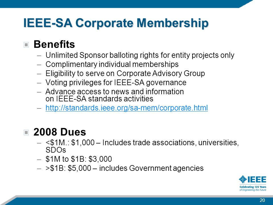 IEEE-SA Corporate Membership