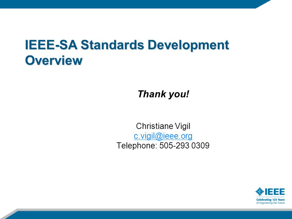 IEEE-SA Standards Development Overview