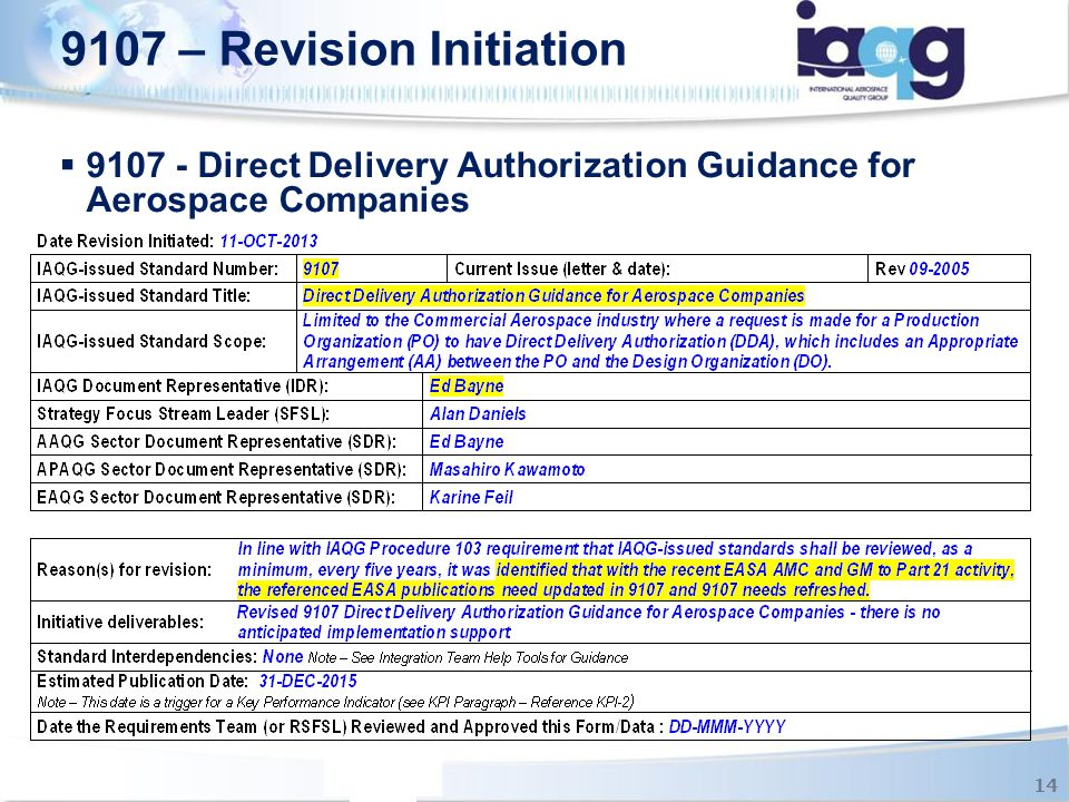 9107 - Direct Delivery Authorization Guidance for Aerospace Companies