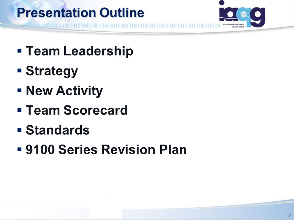 Presentation Outline Team Leadership Strategy New Activity