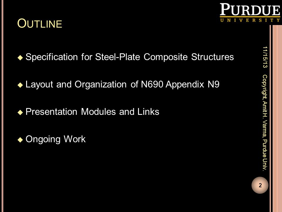 Outline Specification for Steel-Plate Composite Structures