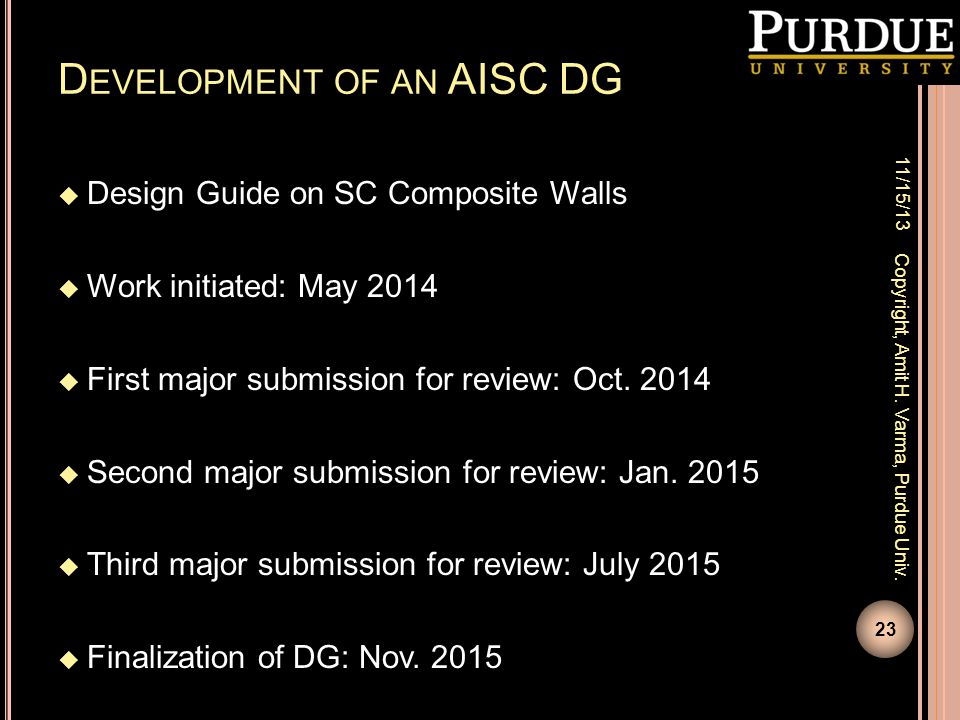 Development of an AISC DG