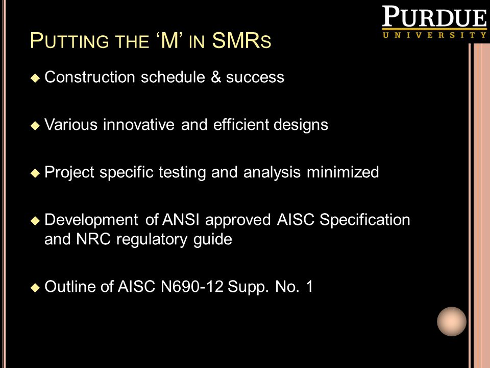 Putting the 'M' in SMRs Construction schedule & success