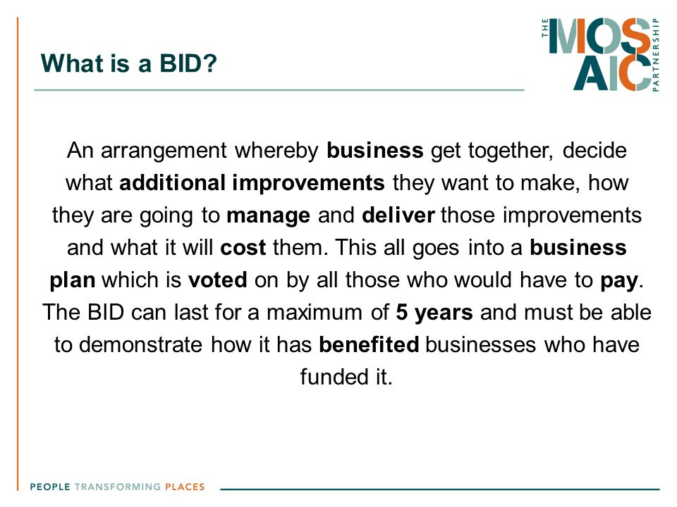 What is a BID