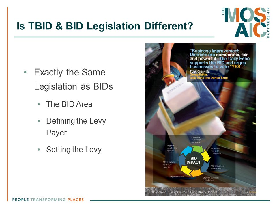 Is TBID & BID Legislation Different