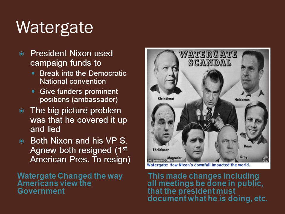 Watergate President Nixon used campaign funds to