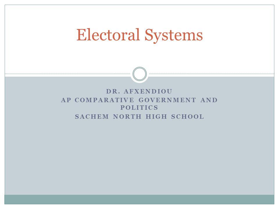 AP Comparative Government and Politics Sachem North High School