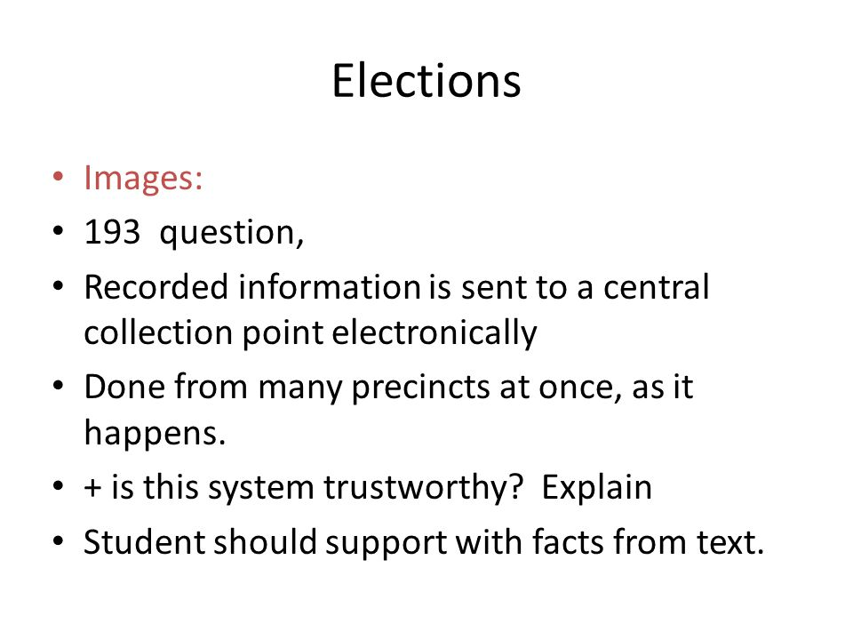 Elections Images: 193 question,