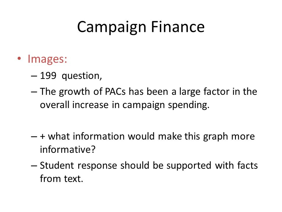 Campaign Finance Images: 199 question,