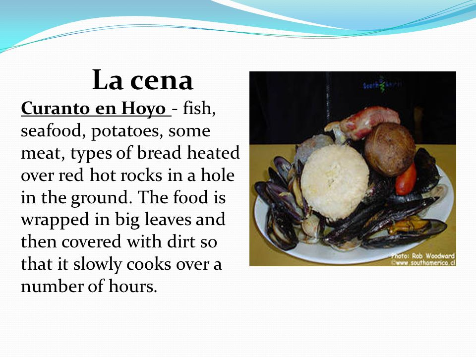 La cena Curanto en Hoyo - fish, seafood, potatoes, some