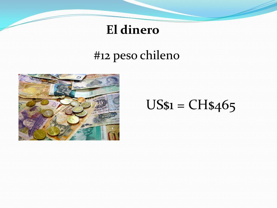 US$1 = CH$465 El dinero #12 peso chileno