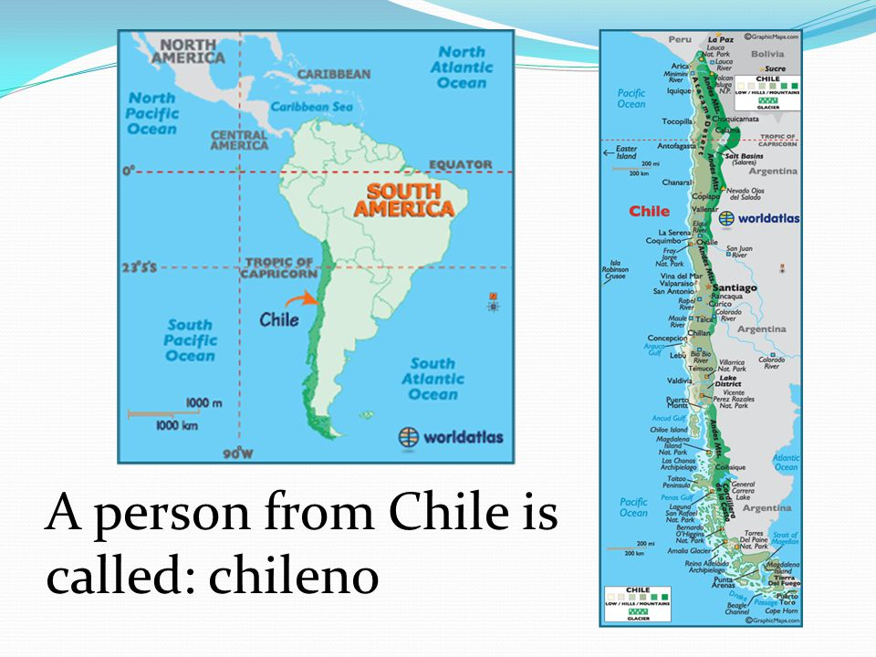 A person from Chile is called: chileno