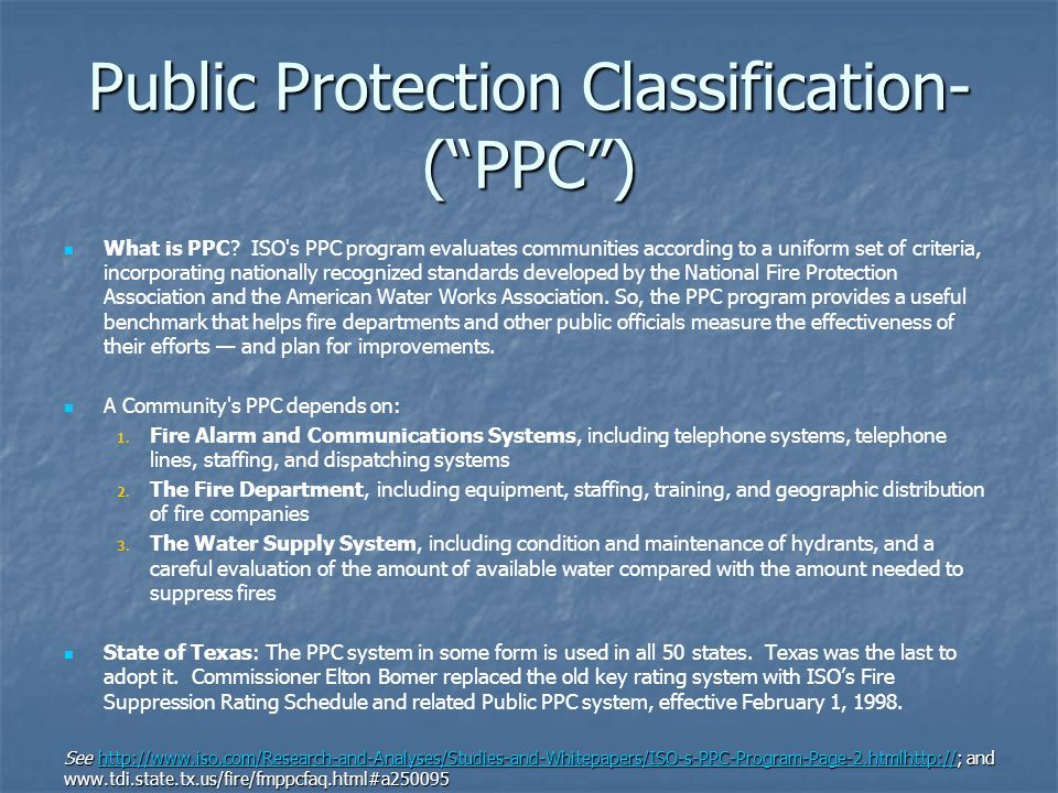 Public Protection Classification-( PPC )