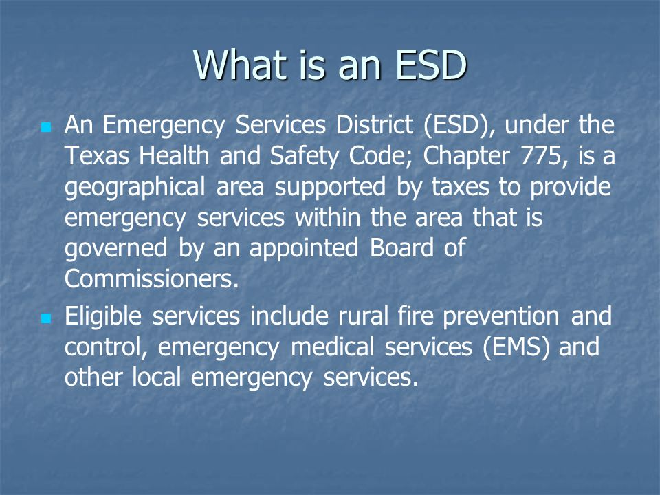 What is an ESD