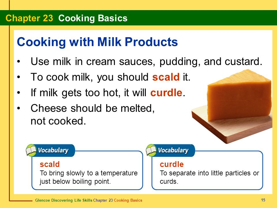 Cooking with Milk Products
