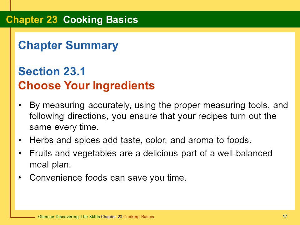 Choose Your Ingredients