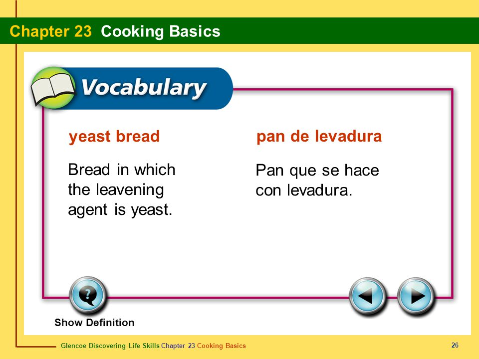 Bread in which the leavening agent is yeast.