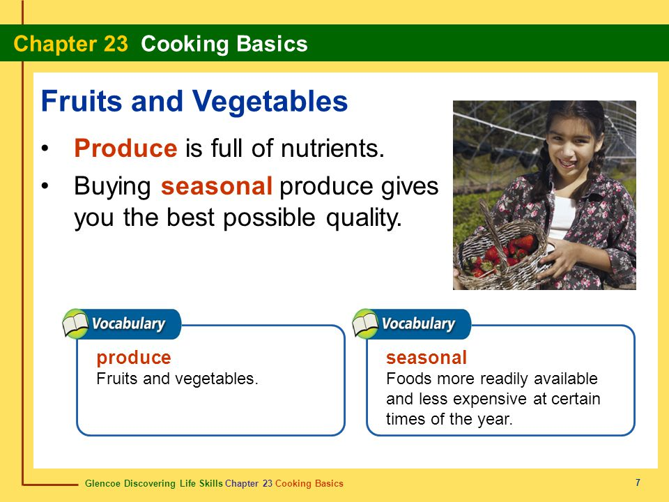 Fruits and Vegetables Produce is full of nutrients.
