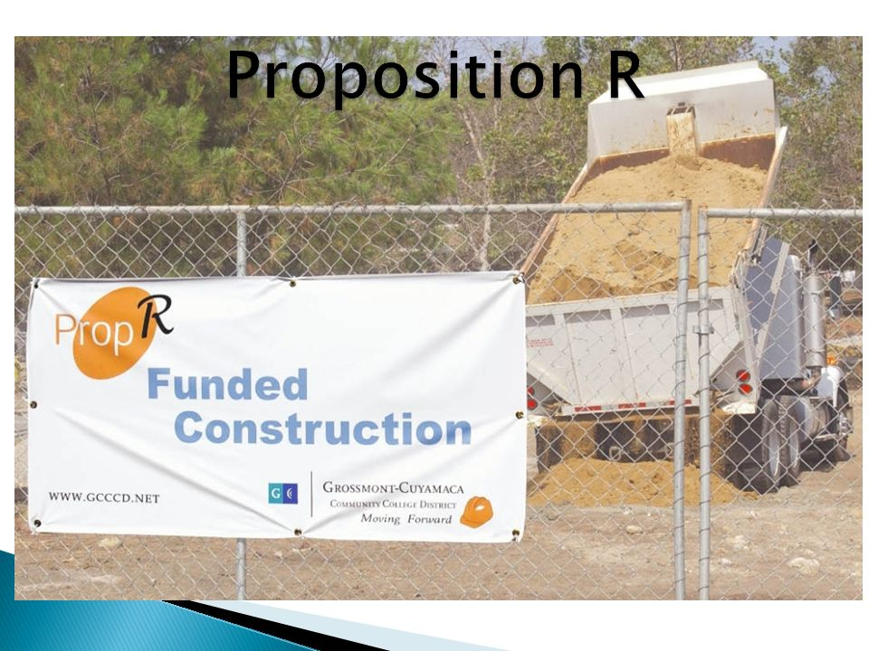 Proposition R $207 million bond measure approved in 2002