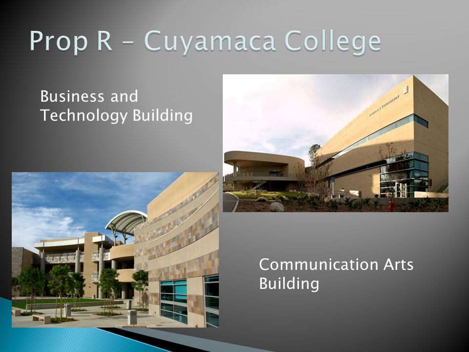 Prop R – Cuyamaca College