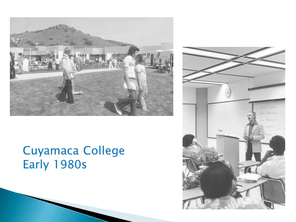 Cuyamaca College Early 1980s