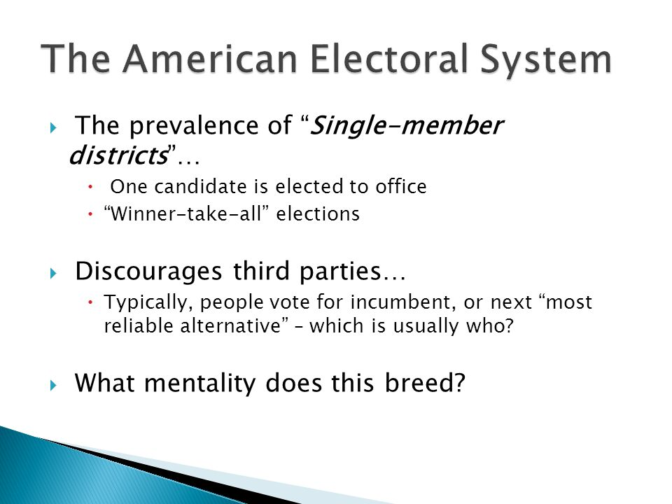 The American Electoral System