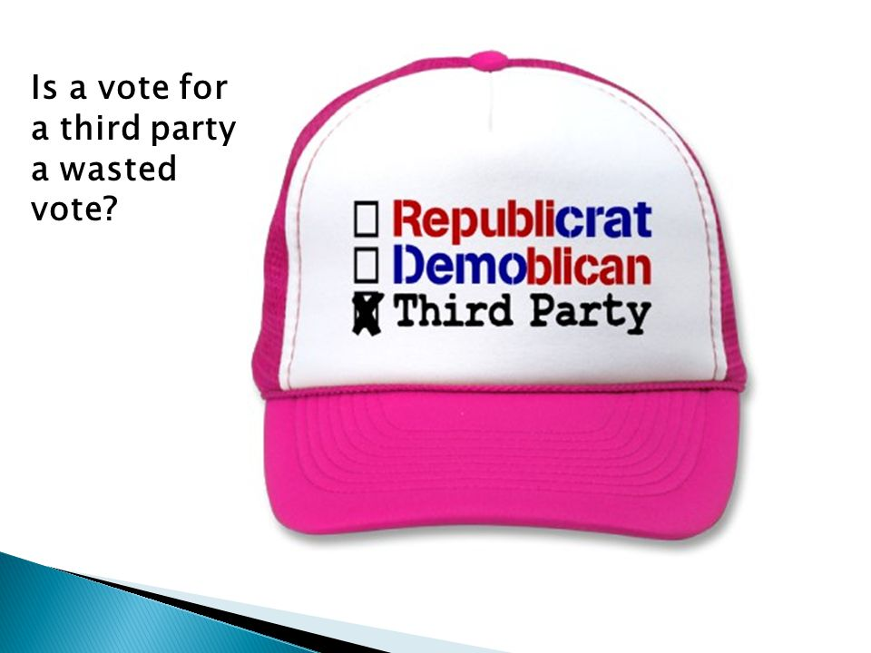 Is a vote for a third party a wasted vote