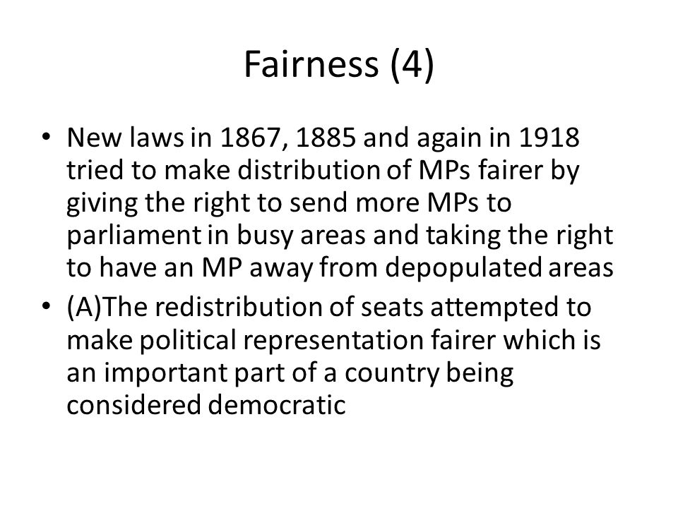 Fairness (4)