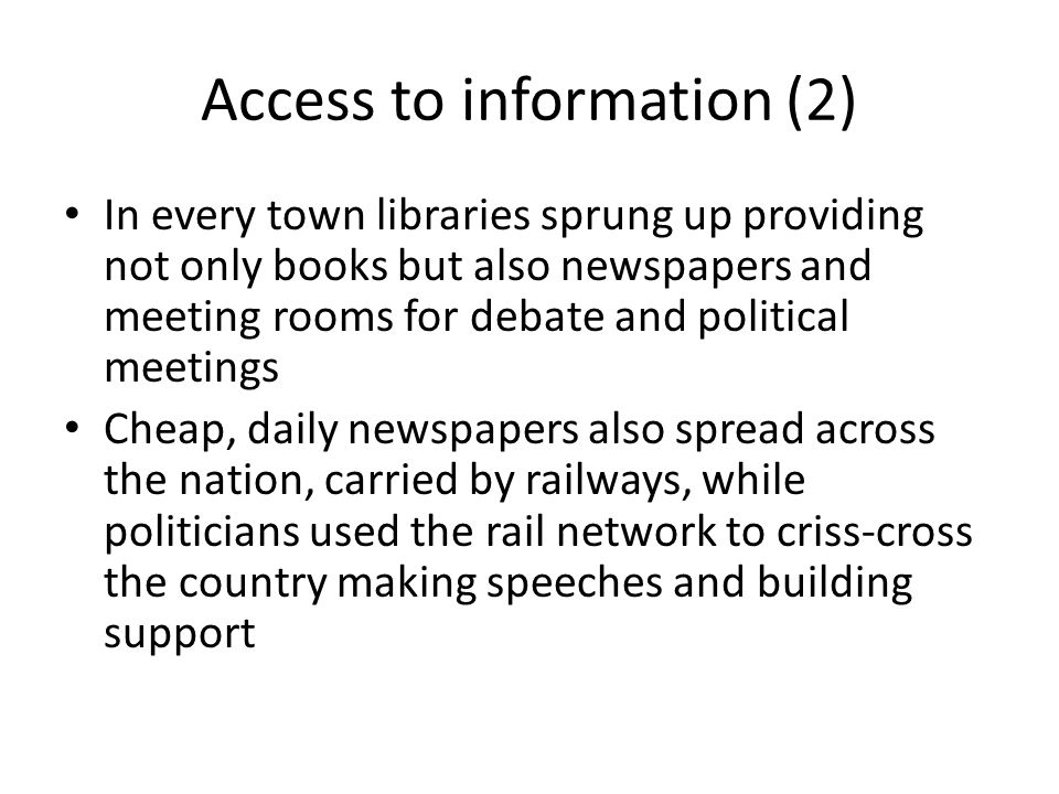 Access to information (2)
