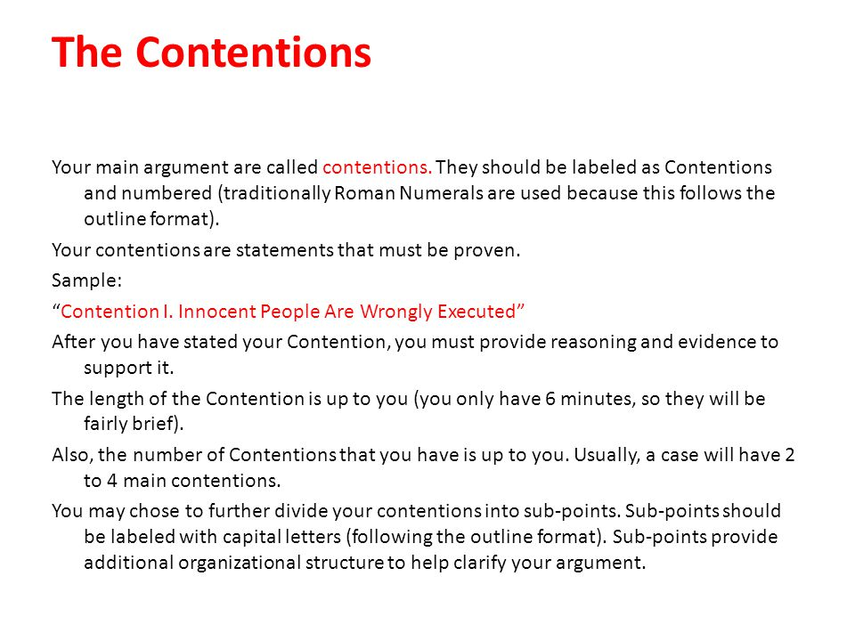 The Contentions