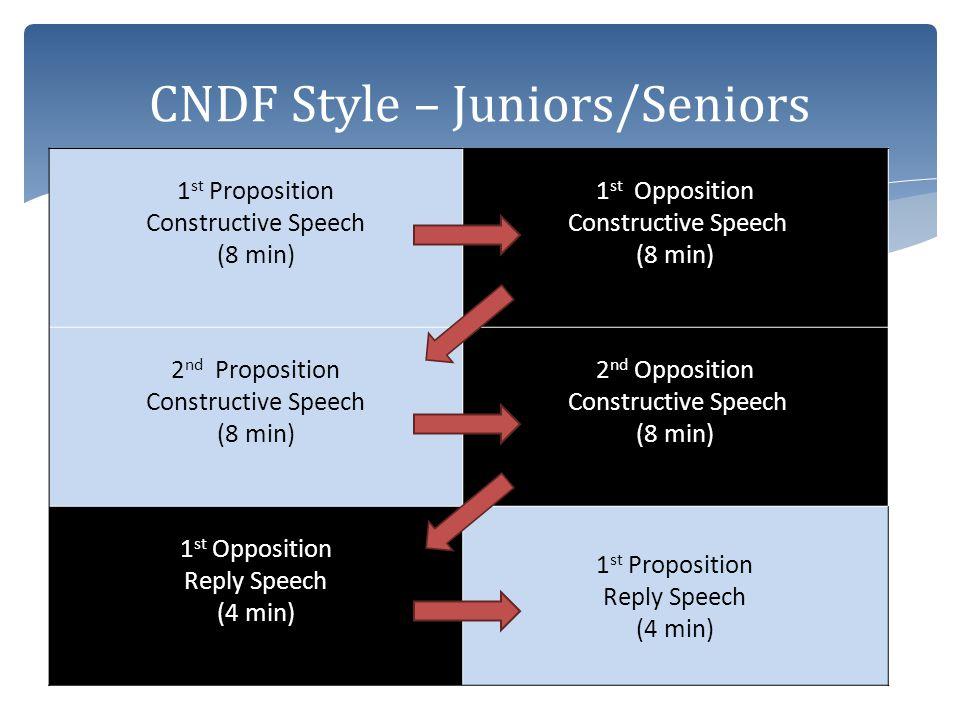 CNDF Style – Juniors/Seniors