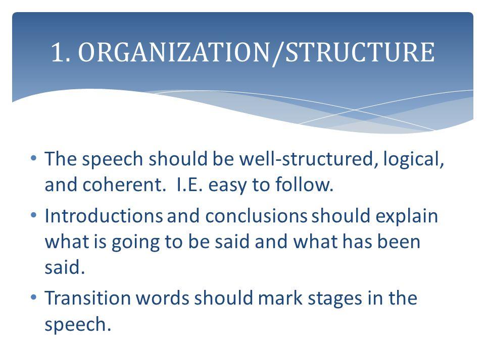 1. ORGANIZATION/STRUCTURE