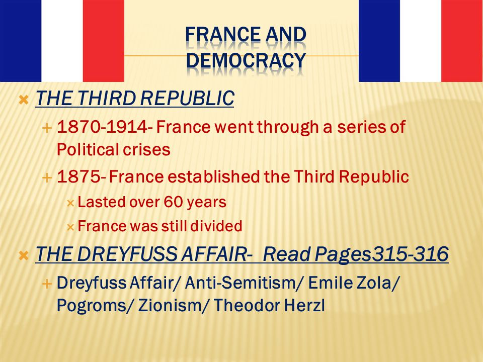 THE DREYFUSS AFFAIR- Read Pages315-316