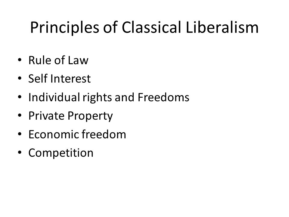 Principles of Classical Liberalism