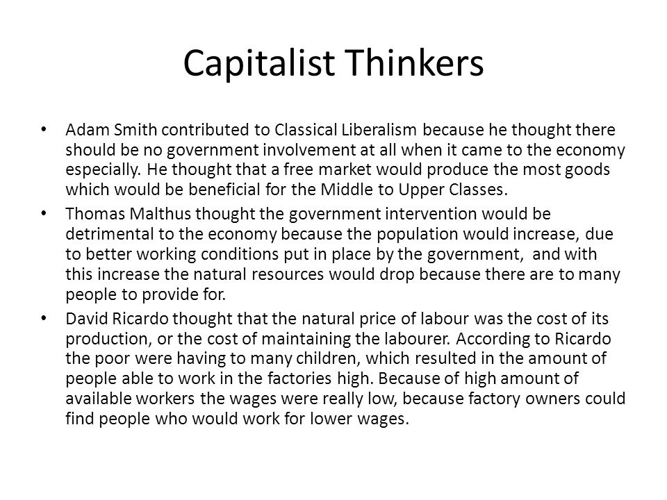 Capitalist Thinkers