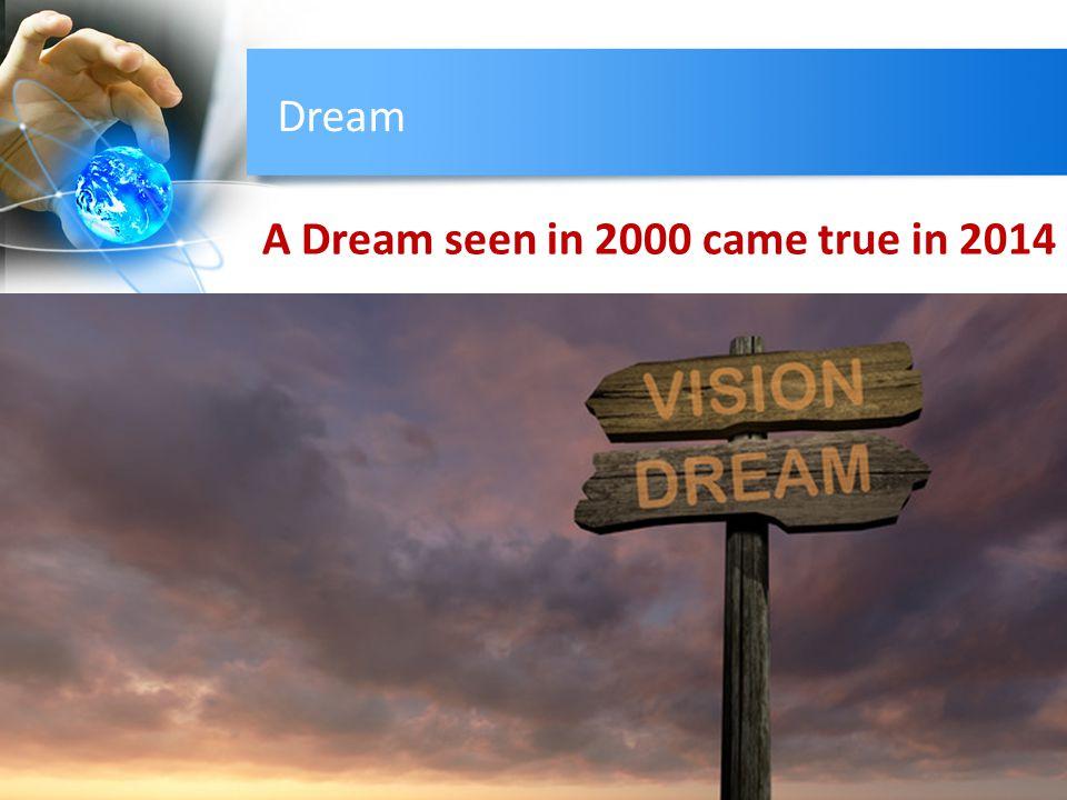 Dream A Dream seen in 2000 came true in 2014
