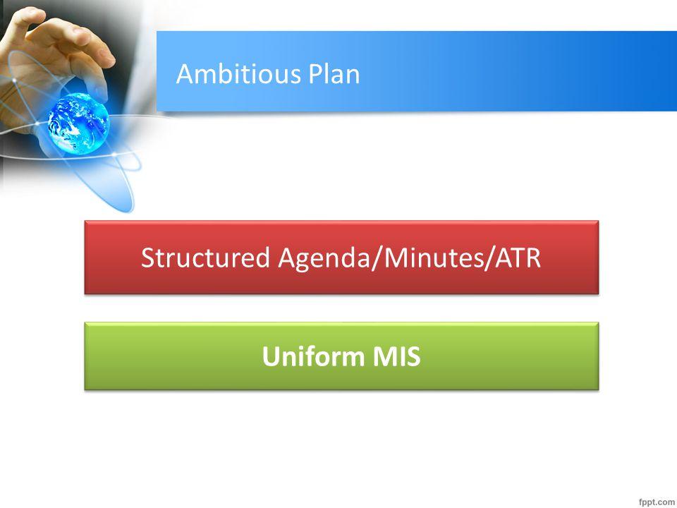 Structured Agenda/Minutes/ATR