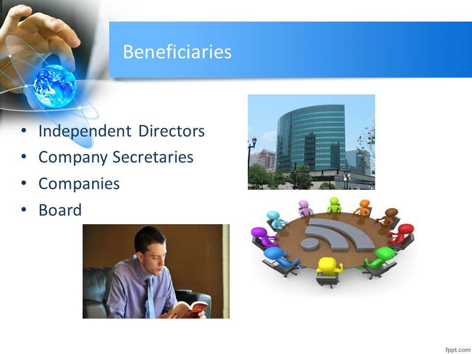 Beneficiaries Independent Directors Company Secretaries Companies
