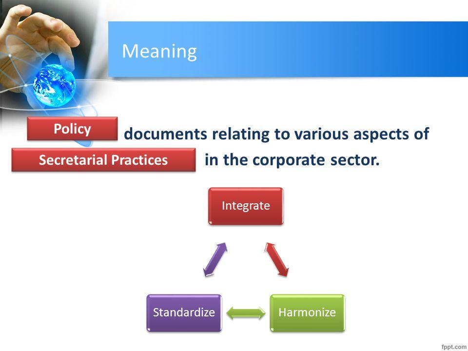 Secretarial Practices