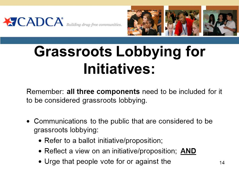 Grassroots Lobbying for Initiatives: