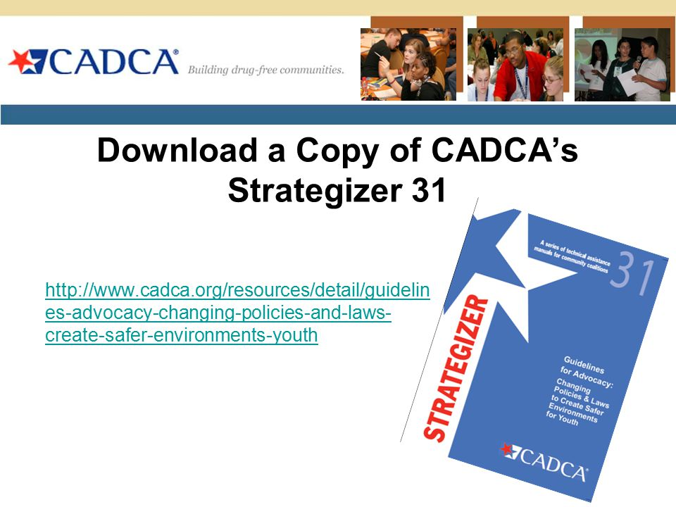 Download a Copy of CADCA's Strategizer 31
