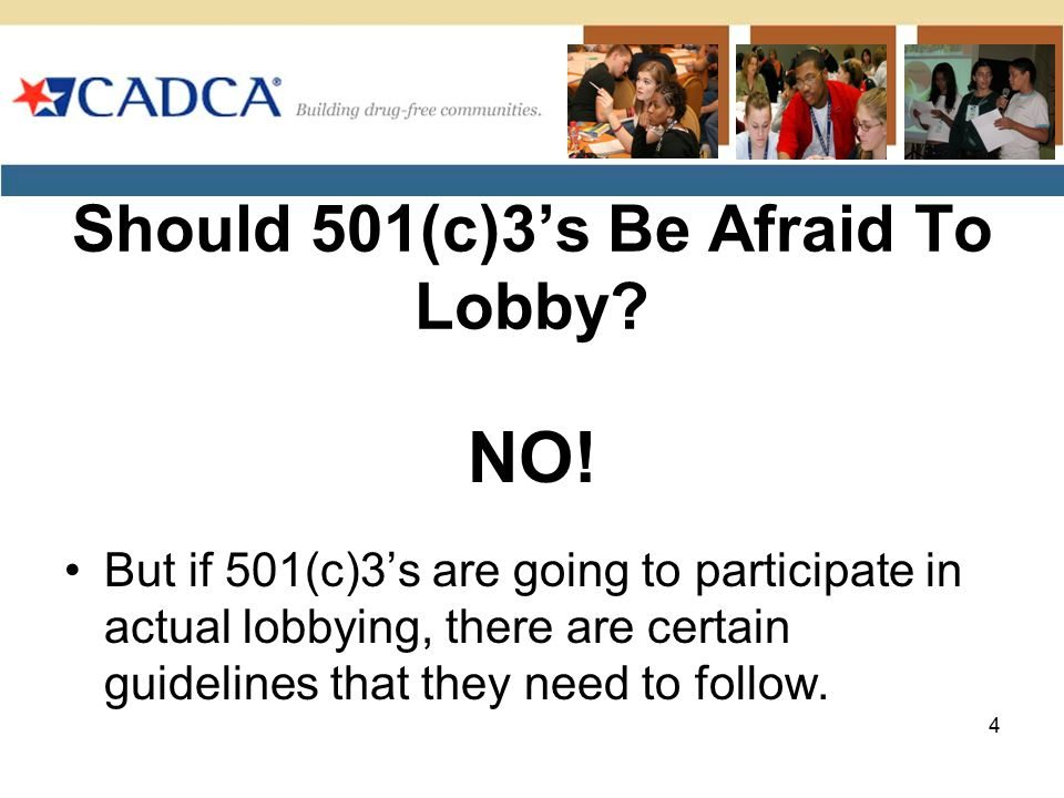 Should 501(c)3's Be Afraid To Lobby