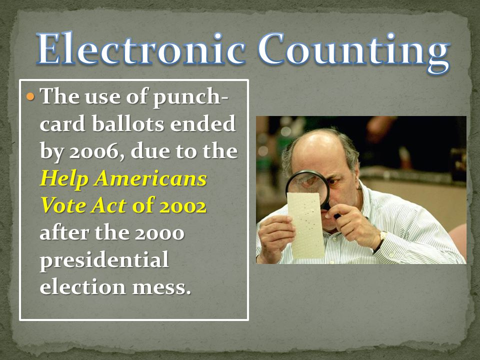Electronic Counting