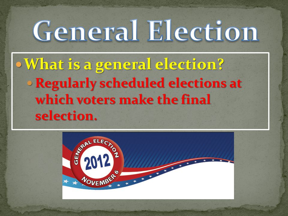 General Election What is a general election