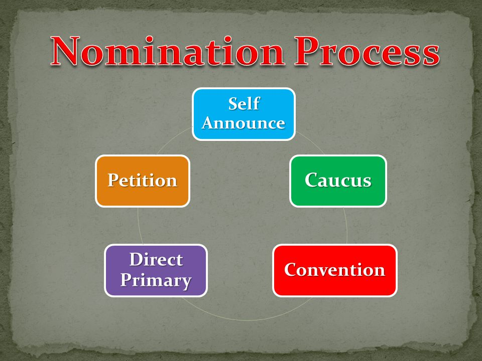 Nomination Process Caucus Petition Direct Primary Convention