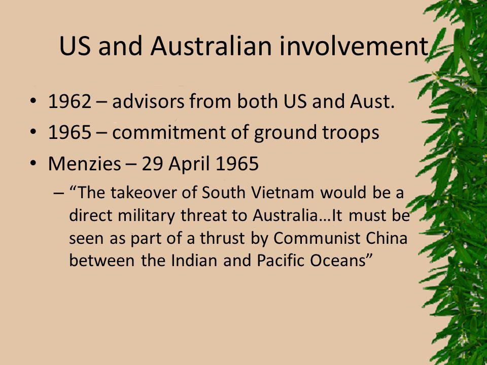 US and Australian involvement