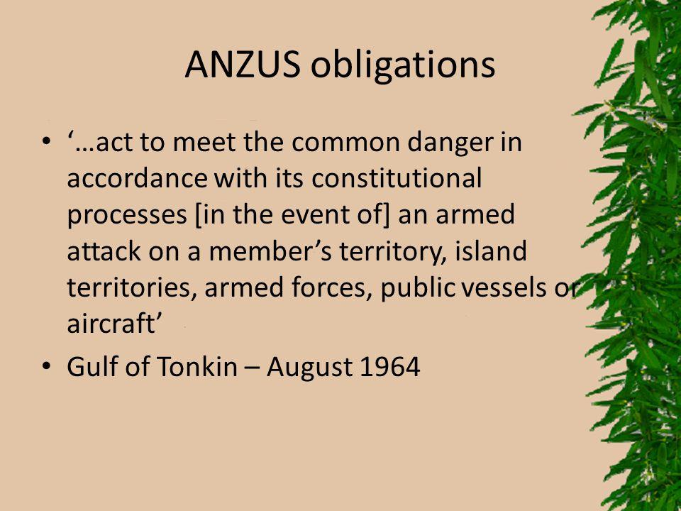 ANZUS obligations