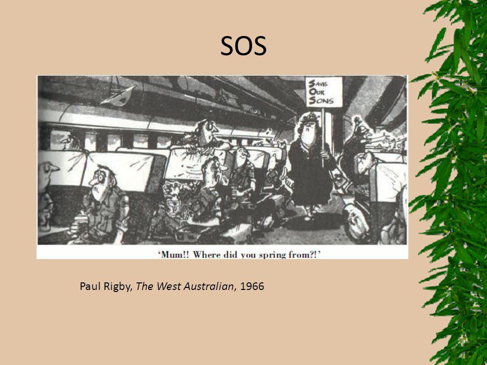 SOS Paul Rigby, The West Australian, 1966